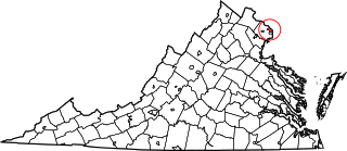 Map of Va: Arlington County