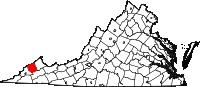 Map of Va: Dickenson County