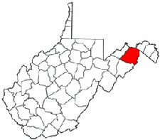 Map of Va: Hampshire County