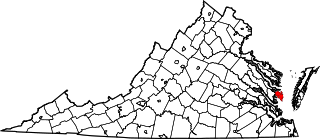 Map of Va: Mathews County