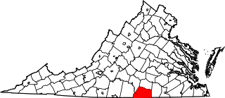 Map of Va: Meklenburg County